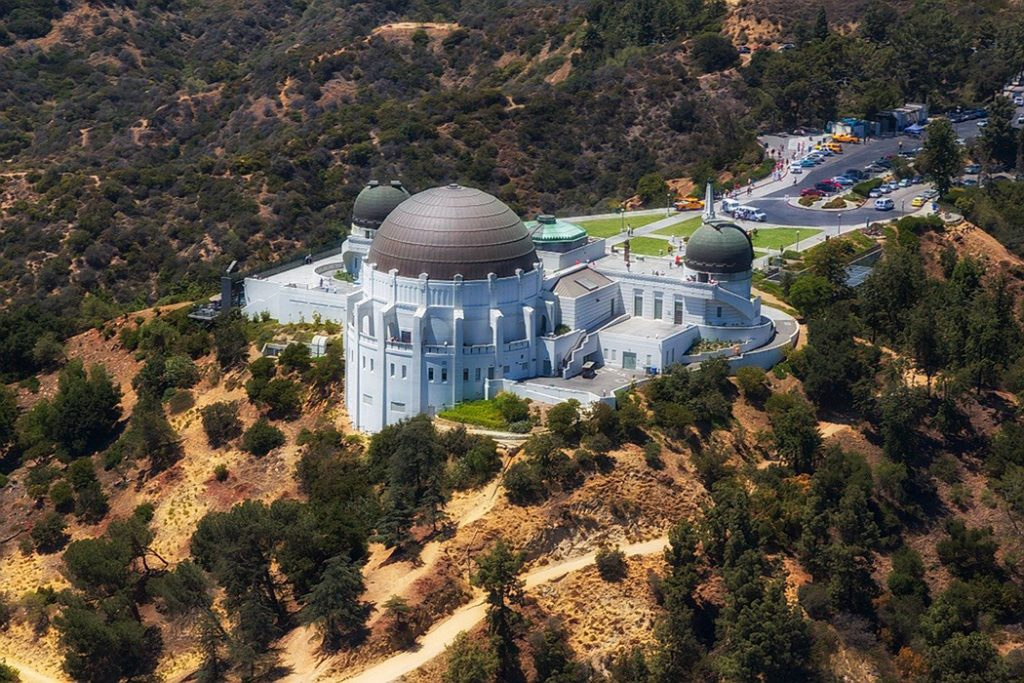 Photo of the Griffith Observatory with a view of Los Angeles.