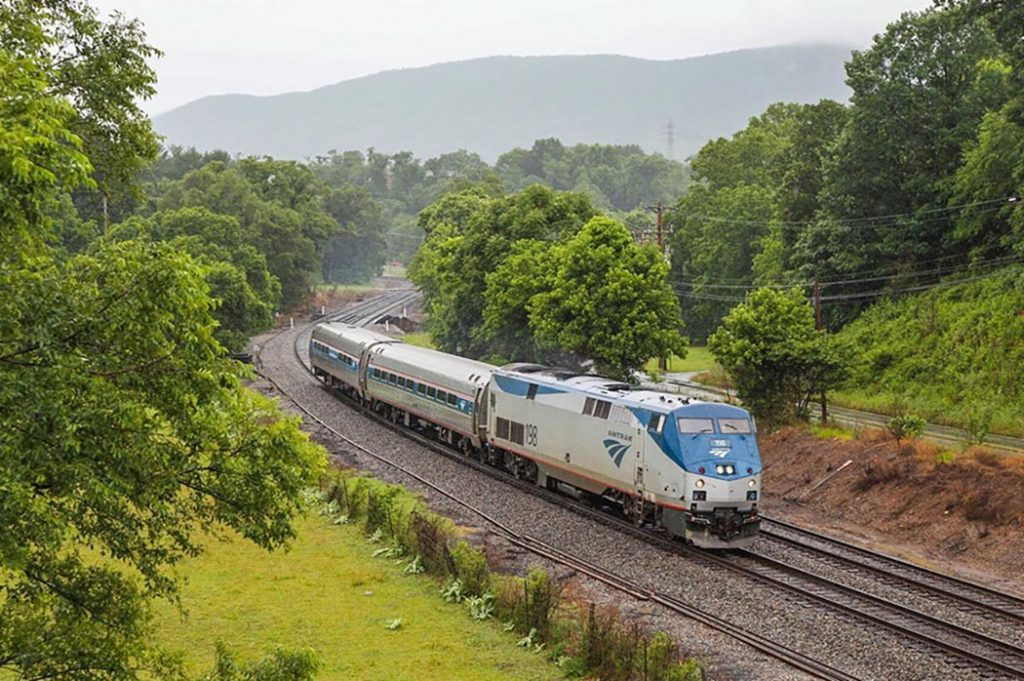 Photo of the Amtrak Northeast Regional train.
