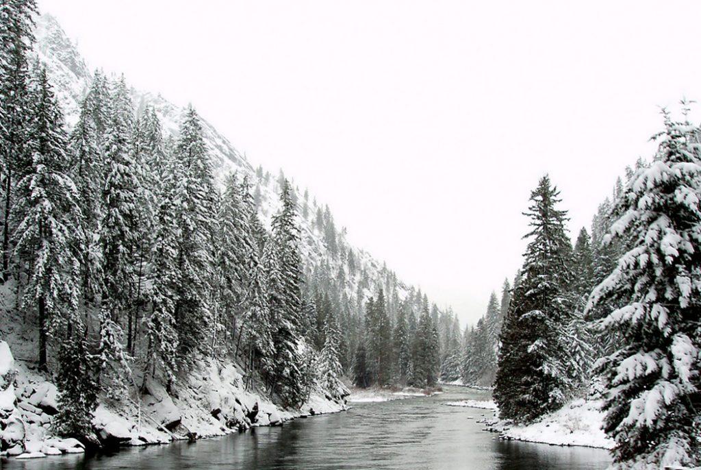 Photo of a creek near Leavenworth, WA.