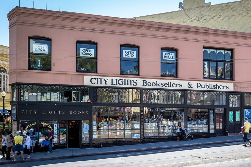 Photo of City Lights Bookstore in SF.