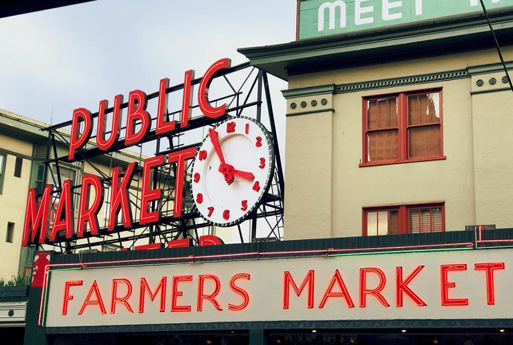 Photo of Pike Place Market in Seattle.