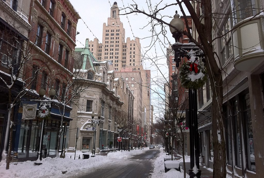 Photo of downtown Providence, RI.