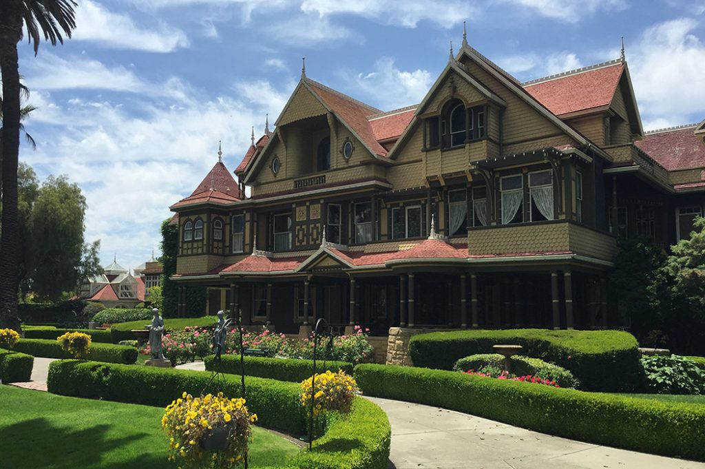 Photo of the Winchester Mystery House in San Jose.