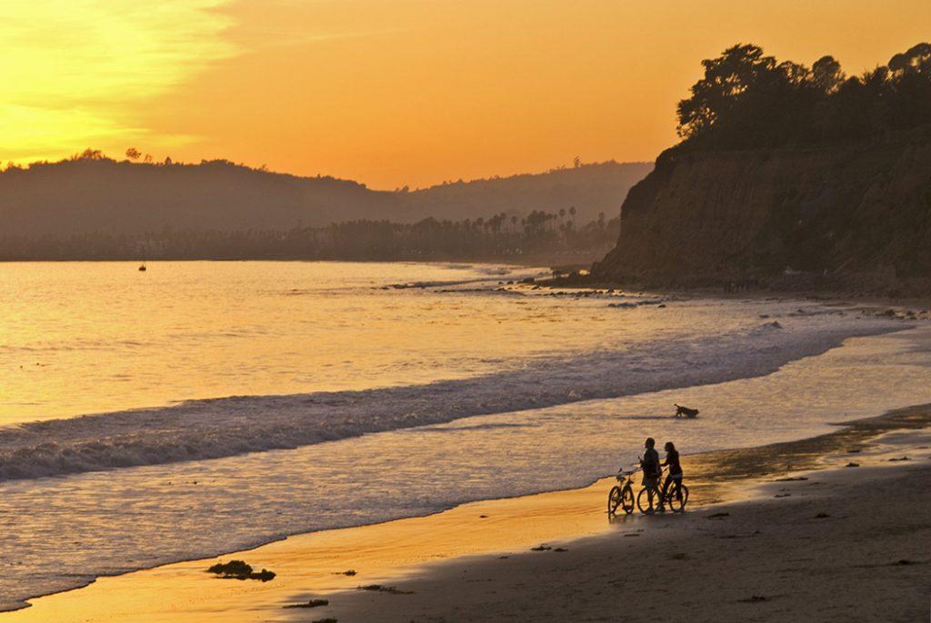 Photo of Butterfly Beach near Santa Barbara.