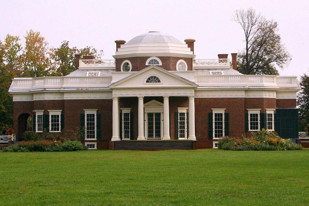 Photo of Monticello in Charlottesville.