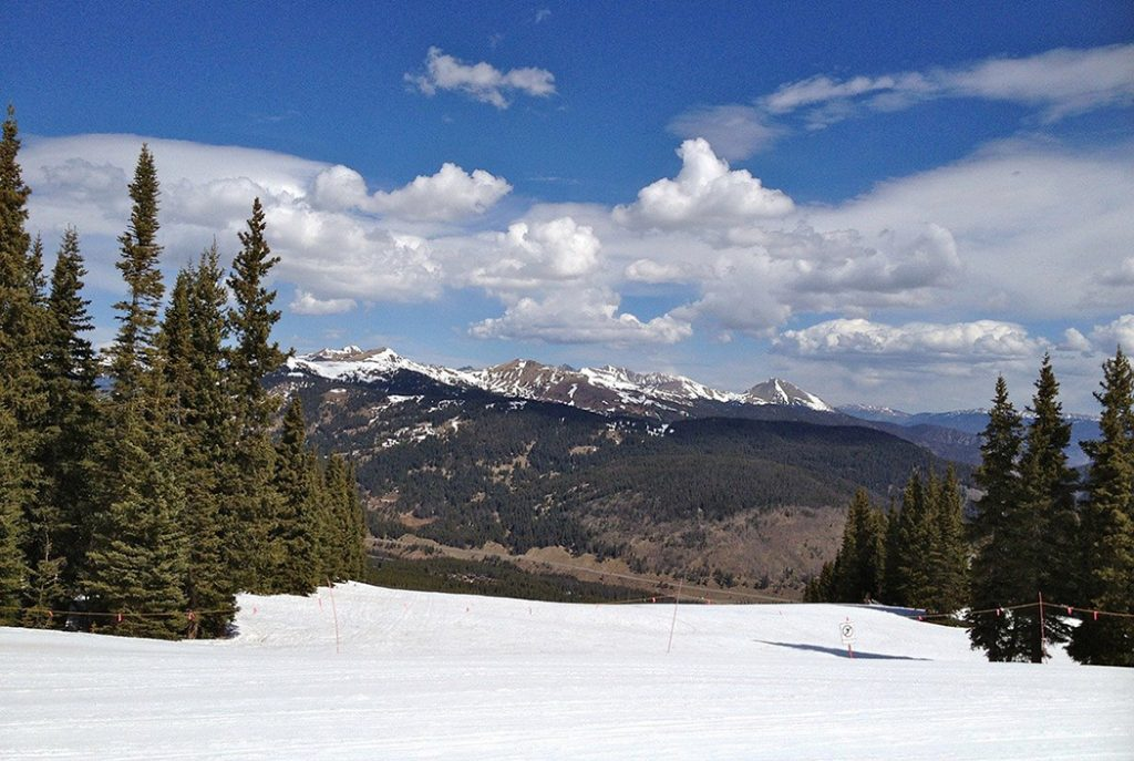 Snowy mountains in Frisco, Colorado.