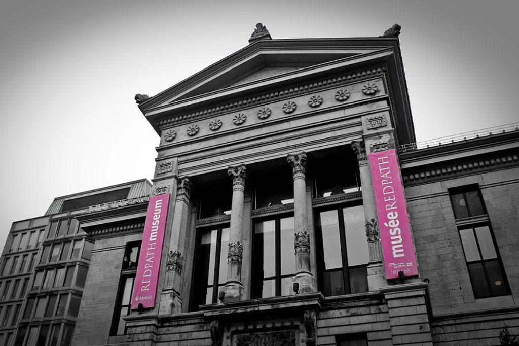 Photo of the Redpath natural history museum in Montreal.