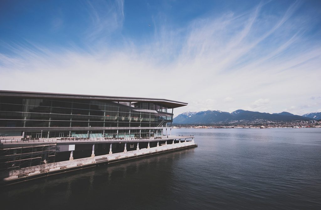 Photo of the Vancouver Convention Centre.