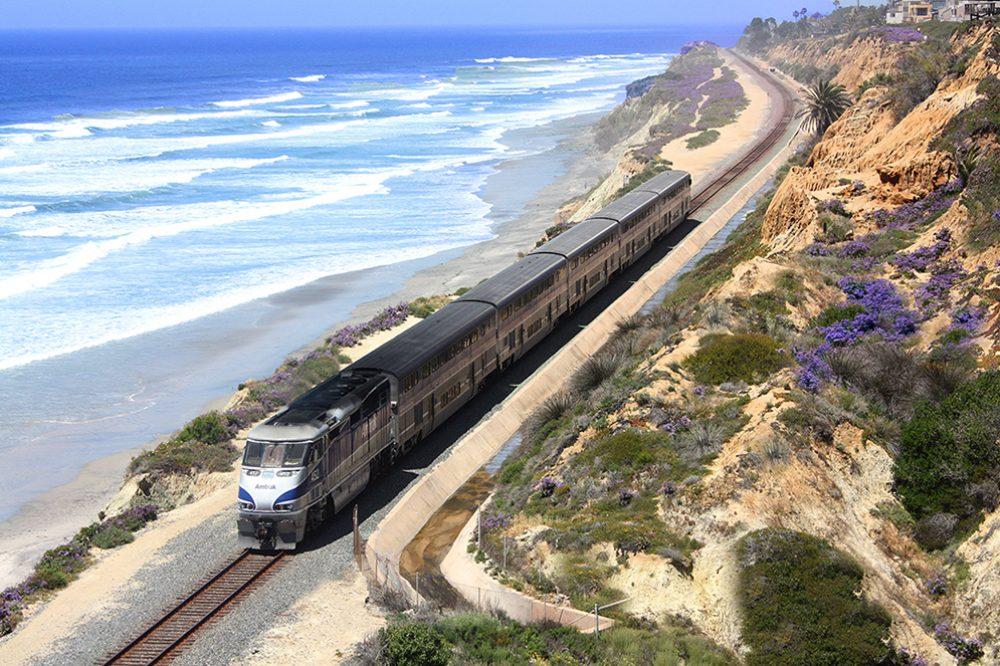 Amtrak's Pacific Surfliner runs up the California Coast from San Diego to San Luis Obispo.