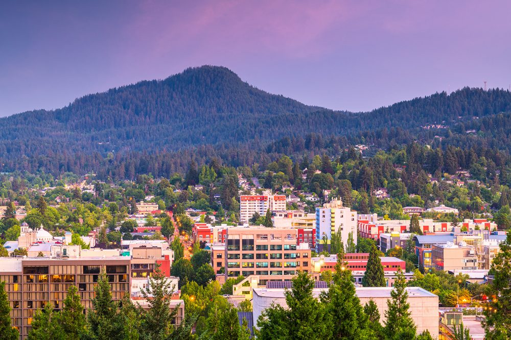 Eugene, OR skyline