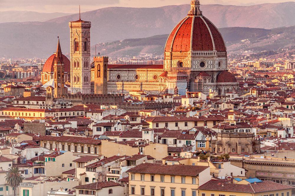 Photo of the cathedral in Florence, Italy — the most cultured city in Europe.
