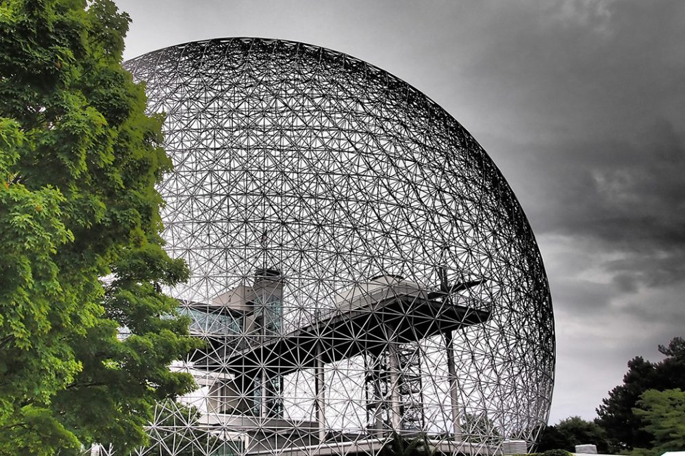 Photo of the Biosphere museum in Montreal, North America's only museum dedicated entirely to the environment.