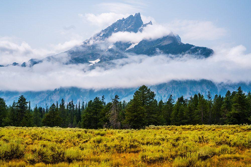 Scenic photo of Yellowstone National Park.
