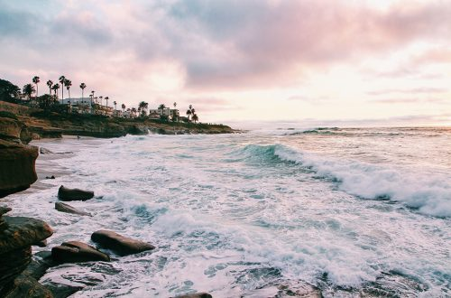 Photo of the beach in San Diego.